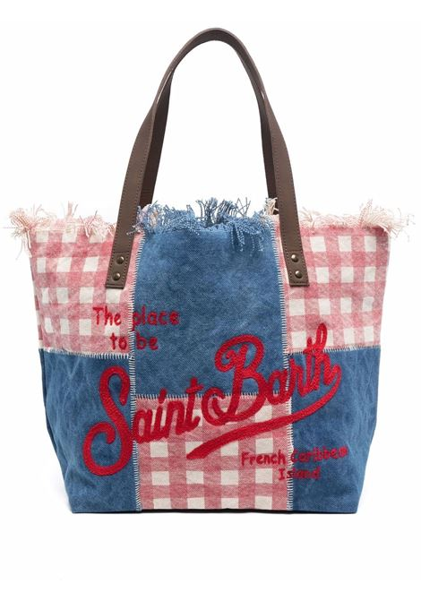 multicolored cotton and leather Saint Barth logo patch-work tote  MC2 |  | HELENE FRINGES CUT-EMB DENIMV41