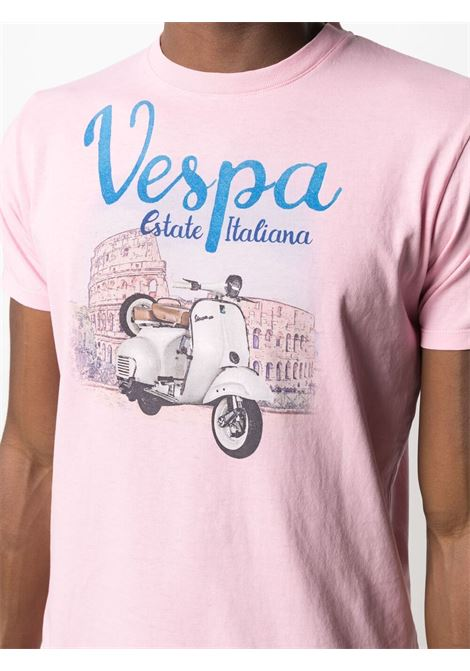 Light pink cotton Vespa graphic-print T-shirt  MC2 |  | JACK-VESPA ROME21