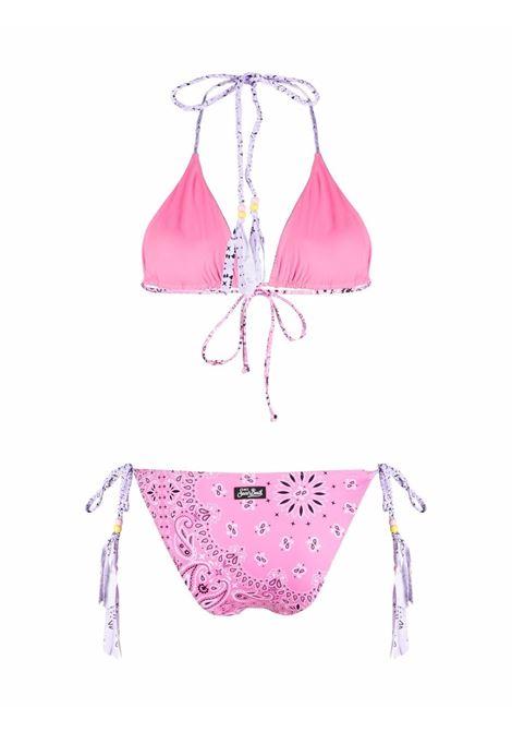 Rose pink bandana print Leah Marielle bikini  MC2      LEAH+MARIELLE BANDANA CHARMS2124