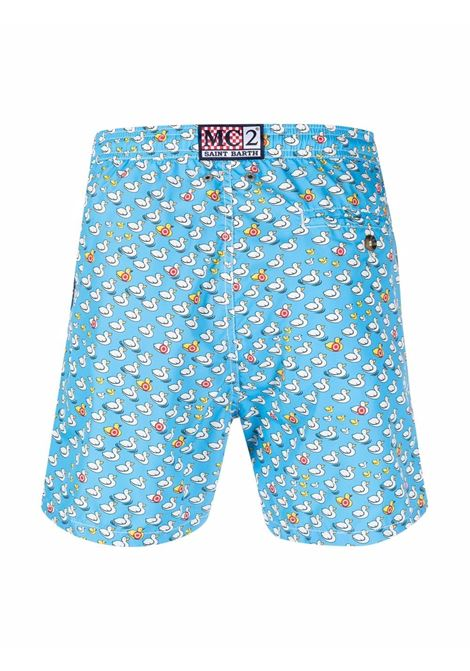 Sky-blue stretch-recycled polyester swim shorts  MC2 |  | LIGHTING MICRO FANTASY-CIBLE17