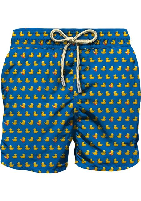Egyptian-blue recycled polyester duck-print drawstring swim shorts  MC2 |  | LIGHTING MICRO FANTASY-DUCKY17