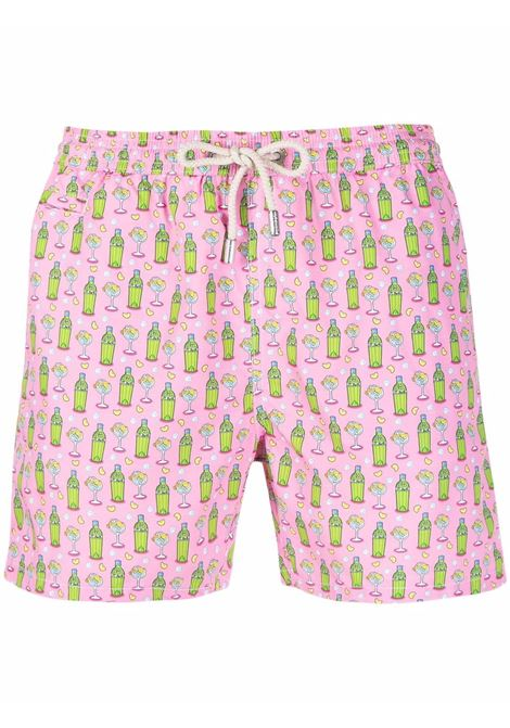 pink Fantasy Gin drawstring-waist swim shorts  MC2 |  | LIGHTING MICRO FANTASY-GIN BOTTLE21