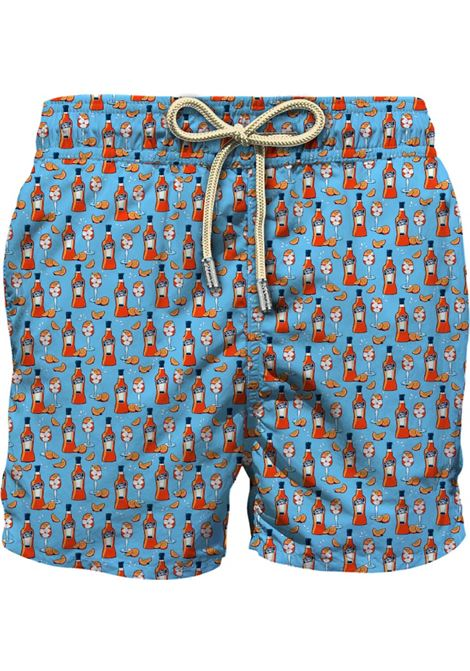 Turquoise-blue recycled polyester with Spritz bottle print swim shorts   MC2 |  | LIGHTING MICRO FANTASY-HAPPY HOUR31