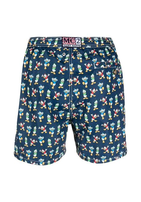Navy-blue recycled polyester Lighthing Duck print swim shorts  MC2 |  | LIGHTING MICRO FANTASY-QUI QUO QUA61