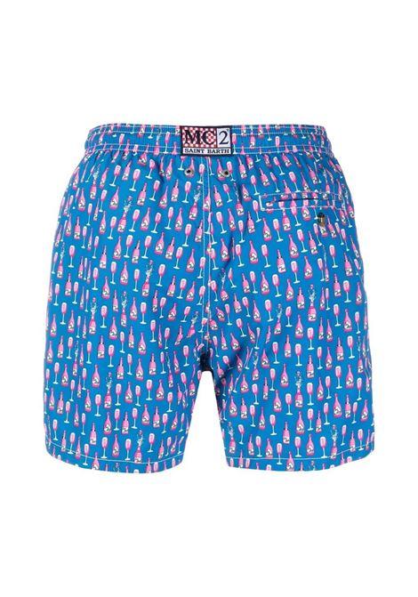 Blue Rosè Bottle print swim shorts MC2 |  | LIGHTING MICRO FANTASY-ROSE17