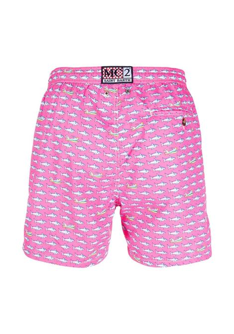 pink recycled polyester graphic-print swim shorts  MC2 |  | LIGHTING MICRO FANTASY-SURF RIDER25