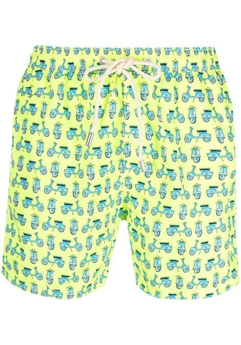 Costume da bagno verde lime con stampa Vespa MC2 | Costumi | LIGHTING MICRO FANTASY-VESPA MODEL94