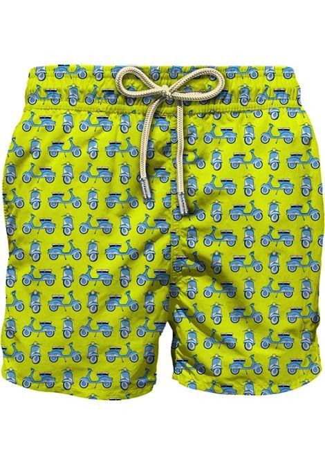 Lime green Vespa-print swim shorts  MC2 |  | LIGHTING MICRO FANTASY-VESPA MODEL94