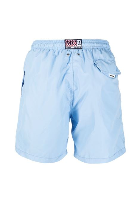 Light blue recycled polyester swim shorts from MC2 x Pantone Collection  MC2 |  | LIGHTING PANTONE30
