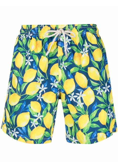 pantaloncini da bagno multicolore in poliestere riciclato con stampa limone MC2 | Costumi | LIGHTING-LEMON MOOD61