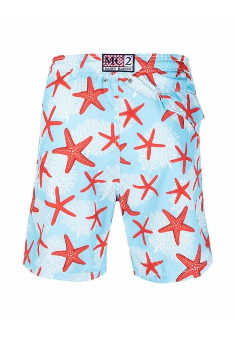 blue recycled polyester star fish-print swim shorts  MC2 |  | LIGHTING-WONDERSEA31