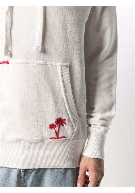 Felpa con cappuccio in cotone bianco con logo MC2 rosso ricamato MC2 | Felpe | LINCOLN-EMB STB PALM0141