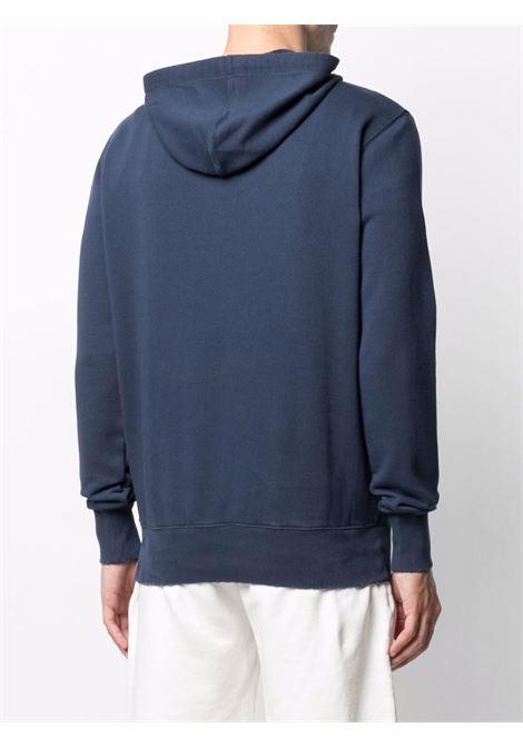 Felpa con cappuccio in cotone blu con logo Mc2 rosso ricamato MC2 | Felpe | LINCOLN-EMB STB PALM6181