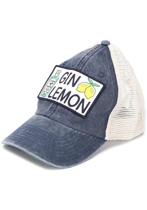 Blue cotton Gin Lemon cap featuring a curved peak MC2 |  | MAJOR-EMB GIN LEMON61