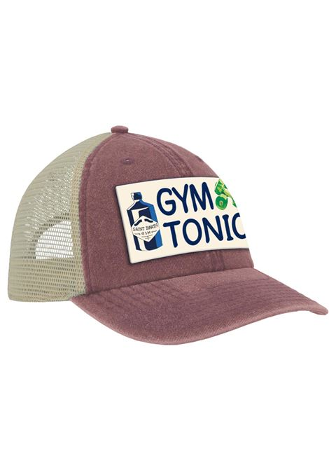 Cappello da baseball bordeaux con logo Gym Tonic MC2 | Cappelli | MAJOR-EMB TONIC45