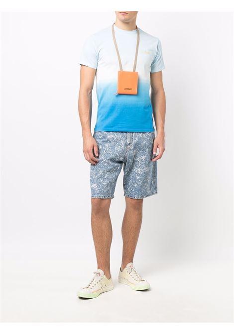 Sky-blue and off-white cotton gradient-effect MC2 logo-print T-shirt  MC2 |  | PORTOFINO T-MICKEY SURF STRIPEDYE3117