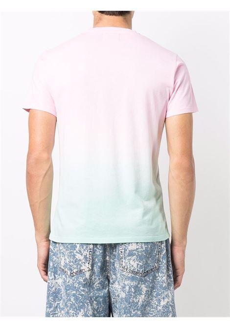 Pink and blue cotton gradient-effect T-shirt   MC2 |  | PORTOFINO T-SB SHADES2156
