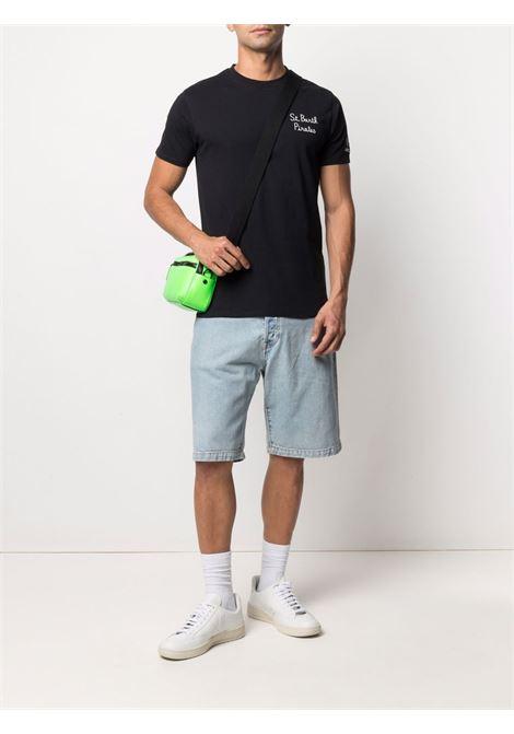 T-shirt in cotone nero con logo MC2 bianco ricamato MC2 | T-shirt | PORTOFINO-EMB PIRATES CHAMP00