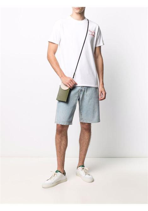 T-shirt in cotone bianco con dettagli ricamati rossi MC2 | T-shirt | PORTOFINO-EMB PLAY HOLIDAY01N