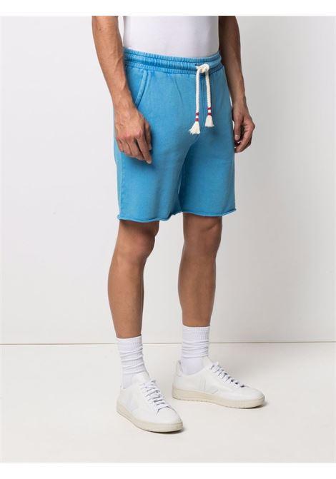 Shorts in cotone azzurro con logo MC2 ricamato MC2 | Bermuda | RANDLE F17