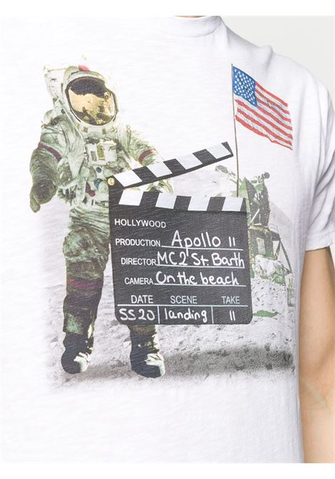 White cotton Skylar Astronaut print T-shirt   MC2 |  | SKYLAR-CIAK01