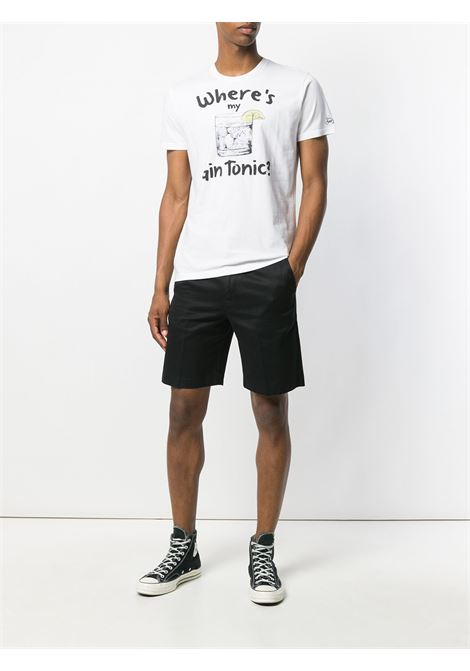T-shirt in cotone bianco con stampa Gin Tonic MC2 | T-shirt | T-SHIRT-MYGIN01N