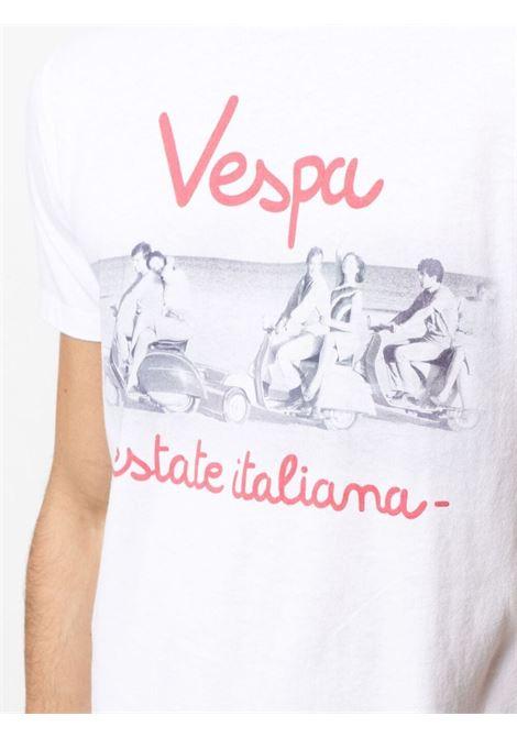 White cotton Vespaprint T-shirt   MC2 |  | TSHIRT-BELLA VESPA01N