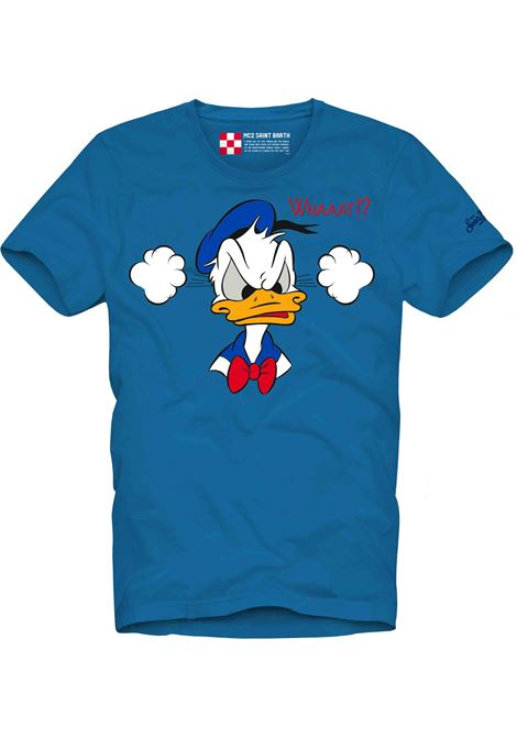T-shirt Paperino in cotone blu MC2 | T-shirt | TSHIRT-EMB DONALD WH17N