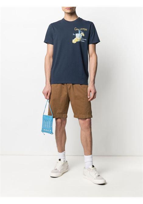 T-shirt stampata in cotone blu con stampa Gin Lemon MC2 | T-shirt | TSHIRT-EMB GIN LEMON61