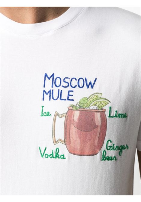 T-shirt Moscow Mule in cotone bianco MC2 | T-shirt | TSHIRT-EMB MOSCOW01N