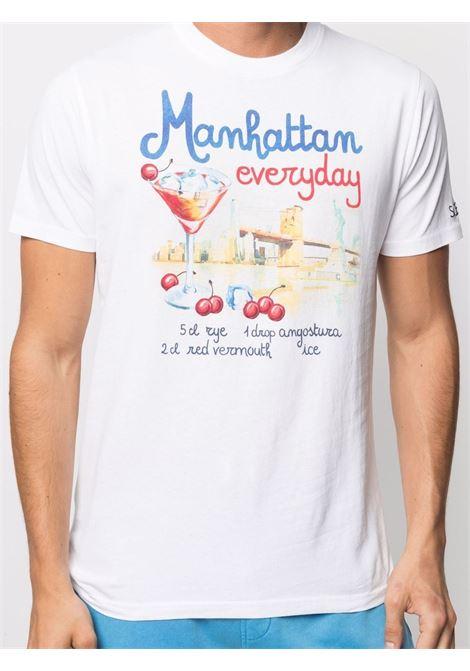 T-shirt in cotone bianco con stampa grafica MC2 | T-shirt | TSHIRT-MANHATTAN DRINK01N