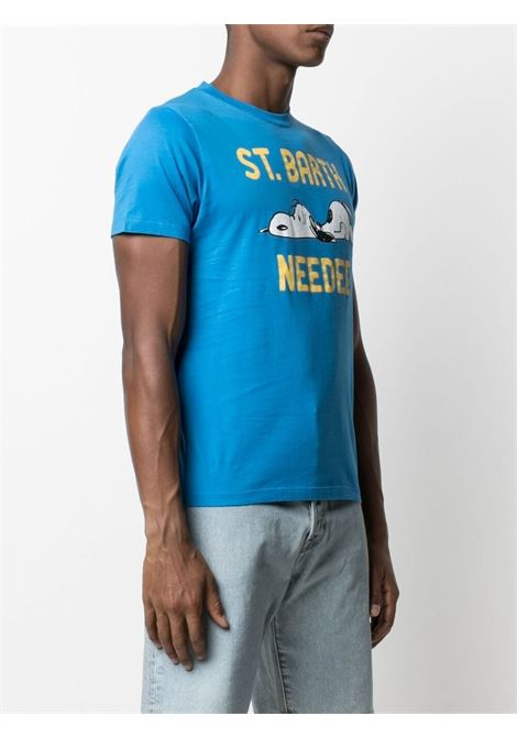 T-shirt con stampa Snoopy in cotone azzurro MC2 | T-shirt | TSHIRT-SNOOPY NEED17N