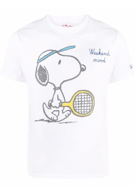 t.shirt in cotone bianco con stampa Snoopy MC2 | T-shirt | TSHIRT-SNOOPY WEEKEND01N