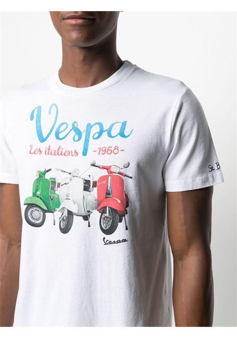 White cotton Vespa graphic-print T-shirt MC2 |  | TSHIRT-VESPA ITALIENS01N