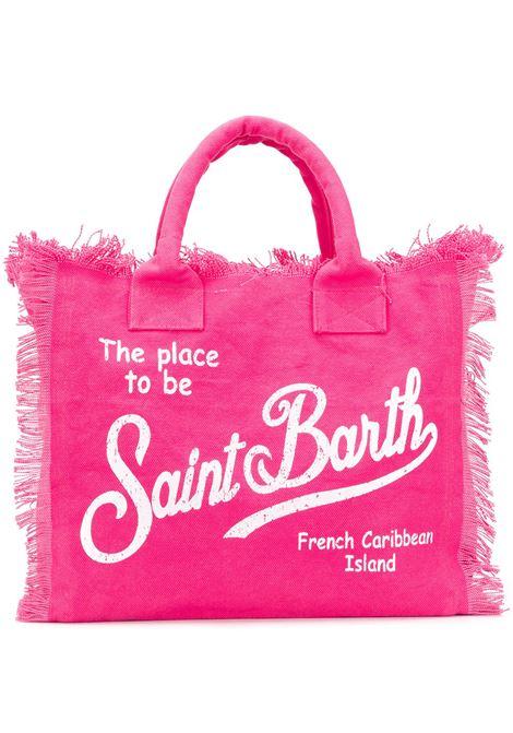 Borsa tote Vanity in cotone fucsia con logo stampato Mc2 Saint Barth MC2 | Borse tote | VANITY77