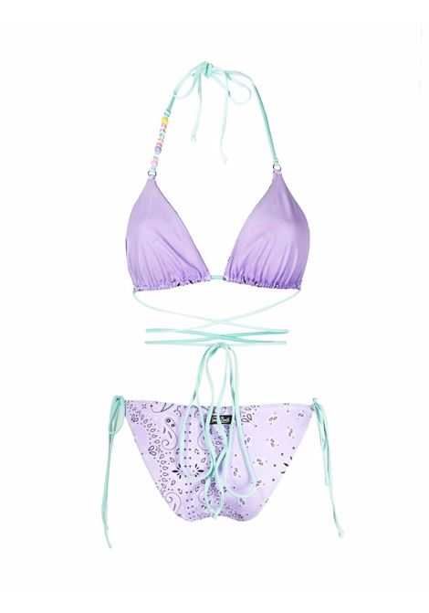 Lilac and green Veronika Marielle bandana print bikini  MC2      VERONIKA+MARIELLE BANDANA2456