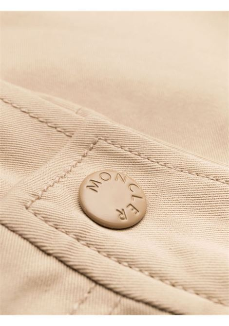 Beige stretch cotton panelled cropped trousers  MONCLER |  | 2A749-00-54AUL221