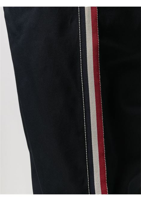 Pantaloni cropped in cotone nero con coulisse MONCLER | Pantaloni | 2A772-00-57448781