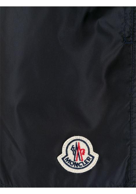 costume da bagno blu con logo Moncler MONCLER | Costumi | 2C708-00-53326743