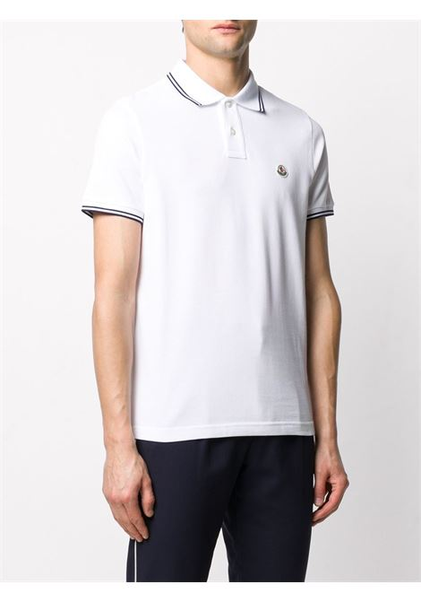 White cotton polo shirt featuring Moncler logo  MONCLER |  | 8A706-00-84556001