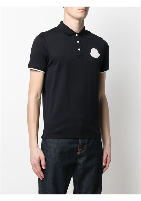 Blue cotton piquet polo shirt with white buttons MONCLER |  | 8A724-00-84673778