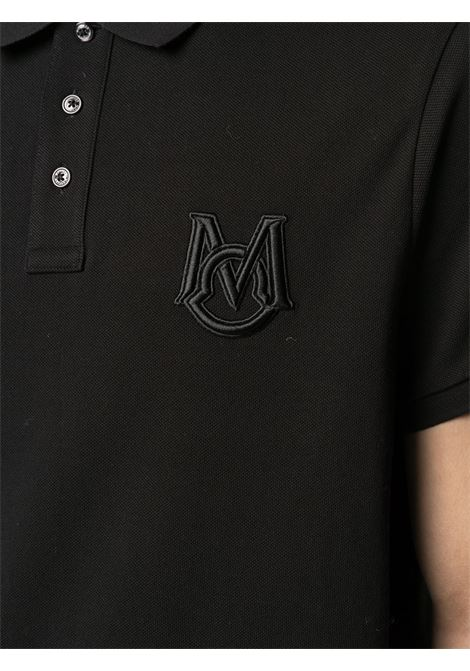 black polo with front Moncler embroidered logo MONCLER |  | 8A729-00-84556999