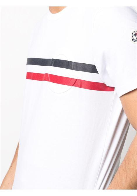 White cotton embossed Moncler logo T-shirt   MONCLER |  | 8C7B8-10-8390T001