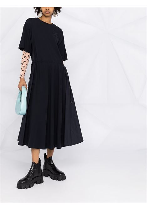 Navuy blue cotton short sleeve midi dress featuring Moncler embroidered logo at the chest MONCLER |  | 8I723-10-84720778