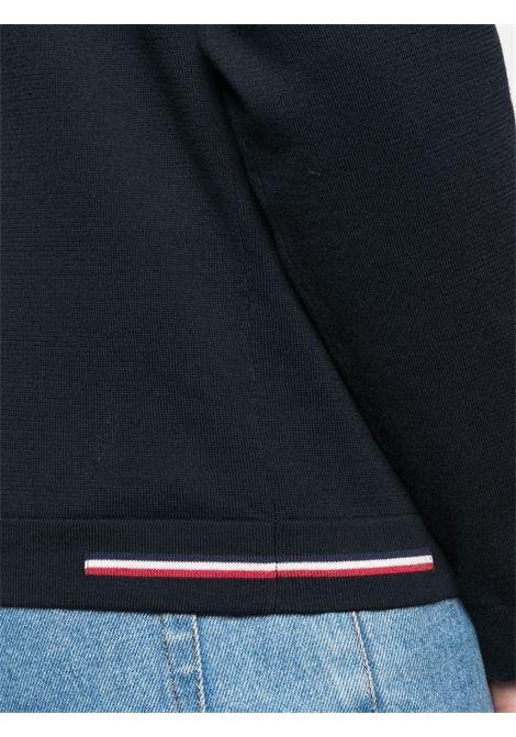 Felpa in misto cotone blu navy girocollo MONCLER | T-shirt | 9C713-00-V9103742