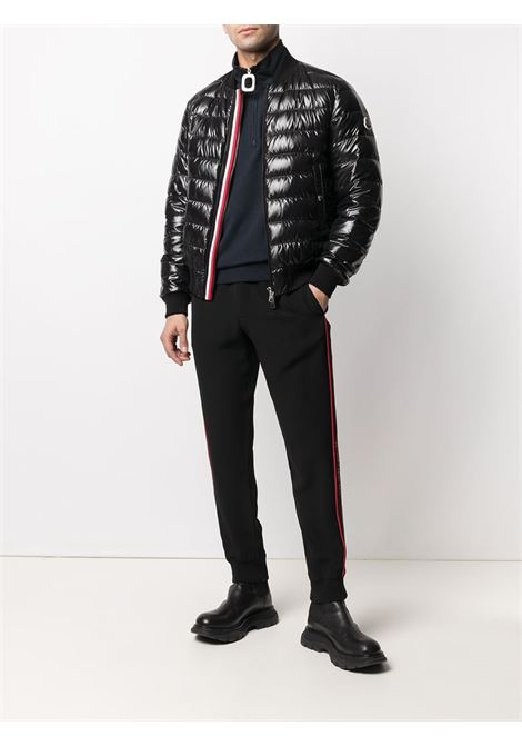 Black Perouges padded bomber jacket featuring  high-shine finish MONCLER |  | PEROUGES 1A50S-00-68950999