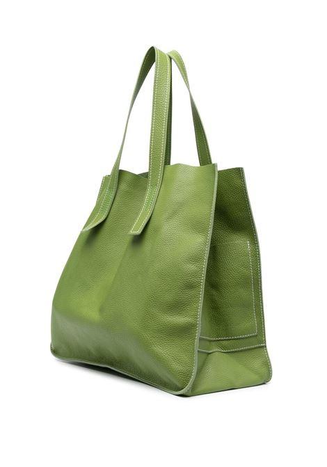Borsa tote Farry grande in pelle verde pera con trama martellata P.A.R.O.S.H. | Borse a mano | D050191I-FARRYBAG005