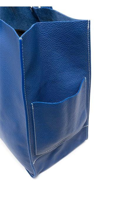 Borsa tote Farry grande in pelle blu egiziano con trama martellata P.A.R.O.S.H. | Borse a mano | D050191I-FARRYBAG083