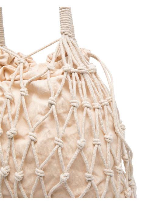 Borsa tote in maglia di cotone panna P.A.R.O.S.H. | Borse a mano | D050596-SAMYBAG002