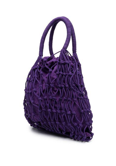Purple cotton rope layer shopper tote  P.A.R.O.S.H. |  | D050596-SAMYBAG044
